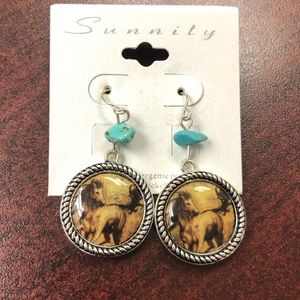 Cute Earrings with Turquoise.